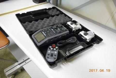 放送部のハンディーレコーダー